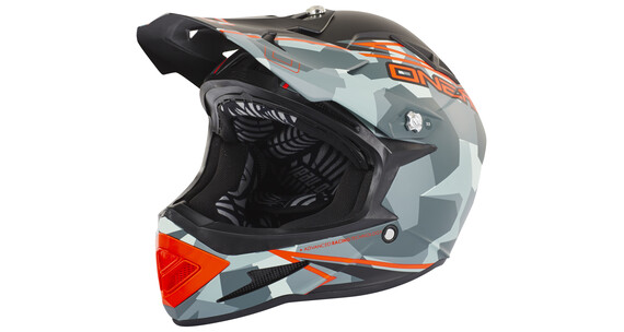ONeal Warp Fidlock Downhill helm Edgy Camo petrol